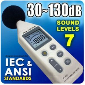Sl 824 Digital Sound Level Meter Noise Pressure 30 To 130 Db Decibel