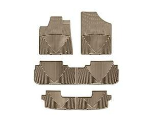 Weathertech All Weather Floor Mats For Toyota Highlander Hybrid 08 13 Tan