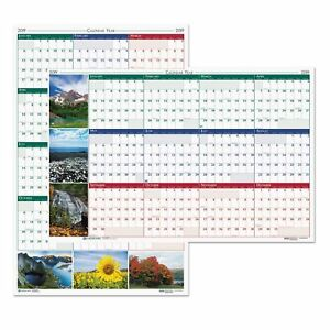 House Of Doolittle Recycled Earthscapes Nature Scene Reversible Yearly Wall