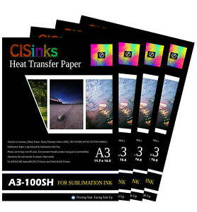 400 Sheet A3 11 7 x16 5 inch 100gsm Thick Sublimation Inkjet Heat Transfer Paper