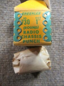 Vintage Greenlee 730 Round Radio amp Chassis Knock out Hole Punch 1 Nos