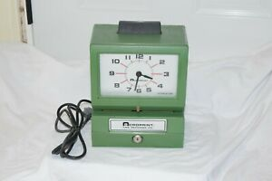 Acroprint Time Recorder Clock Manual Punch Industrial Office Vtg Working 125nr4