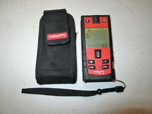 Hilti Pd 42 Digital Laser Range Distance Measurer Meter With Belt Pouch Tool
