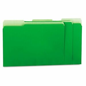 Universal Green Recycled Interior File Folders box Of 100