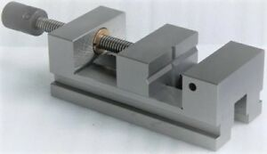 Precision Grinding Vise 3 75mm Screw Type V Groove Hardened Jaw For Workholding