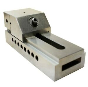 3 75mm Screwless Precision Grinding Vise V Groove Hardened Jaw For Workholding