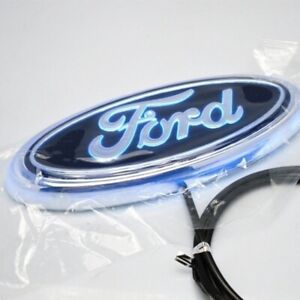 White 5d Led Car Tail Logo Light Badge Lamp Emblem Sticker For Ford Focus Mondeo
