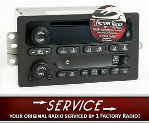 Remanufacture Aux Mod Service For 2003 05 Chevy Gmc Truck Radio Amfm Cd Player