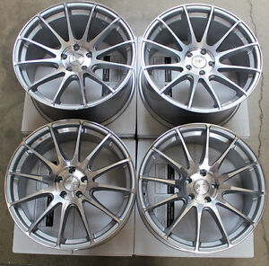 19 Gf6 Concave Staggered Ground Force Wheels Rims Set Fits Bmw E60 M5