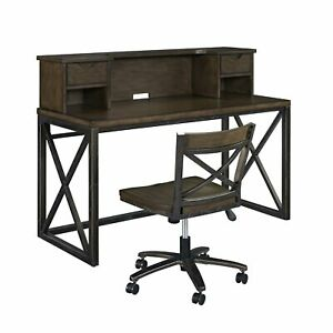 Xcel Office Desk With Hutch Swivel Chair By Home Styles