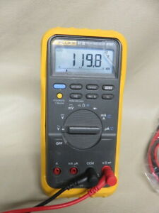 Fluke 87 Iii True Rms Digital Multimeter Volt Meter With Leads