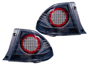 Is300 Is 300 01 02 03 04 05 Led Black Tail Light Pair