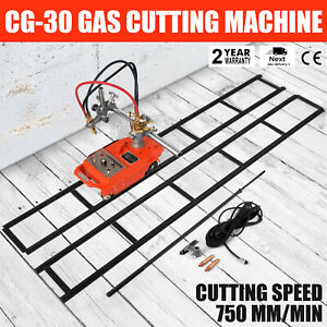 New Portable Torch Track Burner Cg1 30 Gas Cutting Machine Cutter W Rails 110v