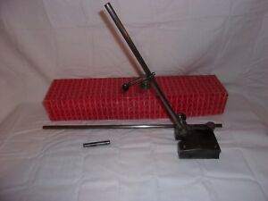 Starrett 257d Surface Gage Dovetail Indicator Holder Scribe 12 18 Spindles
