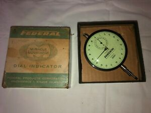 Federal Miracle Movement 3 1 2 Face 0001 Reading Dial Indicator E3bs r1 In Box