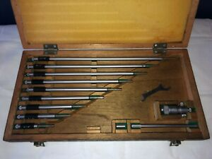 Mitutoyo 2 12 Inside Micrometer Set With Original Wooden Case