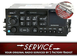 Reman And Bluetooth Mod Service For 1995 05 Chevy Gmc Truck Radio Am Fm Cassette