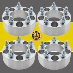 4pc 2 5x4 5 Wheel Spacers Adapters 82 5mm With 1 2 Studs For Jeep Lincoln Ford