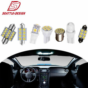 14x White Bulbs Interior Package Kit T10 31mm Led Dome License Brake Light Bulbs
