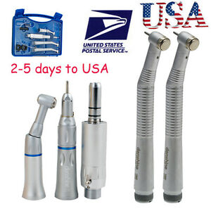Usa Dental 2 Hole Push Button 2high low Speed Handpiece Box Kits Fit Nsk Head