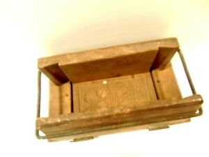 Vintage Rectangular Butter Mold Or Press With Leaf Berry Designs
