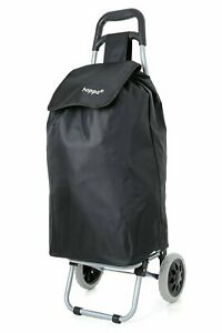Hoppa 23 Lightweight Grocery Foldable Shopping Cart Trolley Black