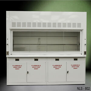 8 Laboratory Chemical Fume Hood With Flammable Cabinets New Quick Ship