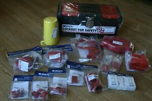 Brady Valve And Electrical Lockout Toolbox Kit Includes 3 Safety Padlocks New