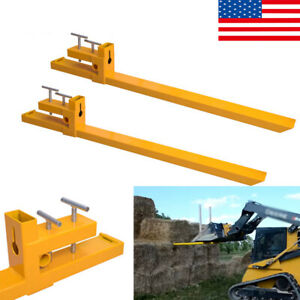 Clamp On Pallet Forks Loader Bucket 2000lbs Capacity 43 Bucket Loader Tractor