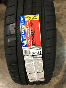 2 New 225 50 18 Michelin Pilot Super Sport Tires