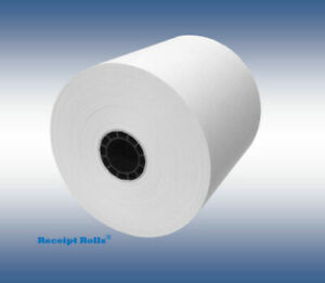 3 1 8 X 273 Extra Long Thermal Receipt Paper Rolls With Splice 50 Rolls cs