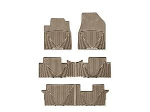 Weathertech All Weather Floor Mats For Honda Pilot 09 15 1st 2nd 3rd Row Tan