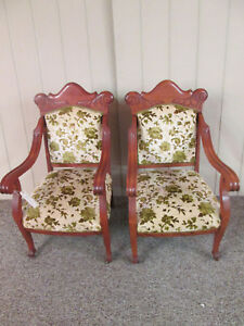 58365 Pair Of Quality Antique Empire Arm Chair S