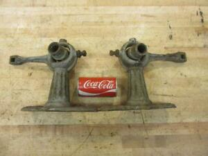 Antique Hit Miss Engine Era Flat Belt Pulley Line Shaft Carrier Bearing Hanger