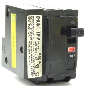 Square D Type Qo Circuit Breakers With 120v Shunt Trip Qo1201201 Qo2101021