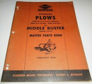 Ford Dearborn 10 1 To 10 80 Plow Middle Buster Master Parts Catalog Book 2 49