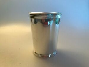 Empire Sterling Silver Mint Julep Cup Beaker Vintage Heavy 4 Inches Tall