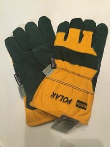 6 Pairs North Polar Winter Insulated Waterproof Leather Gloves Large 70 8110nky