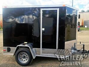 New 5x8 5 X 8 V nose Enclosed Cargo Motorcycle Trailer Ramp Side Door Color