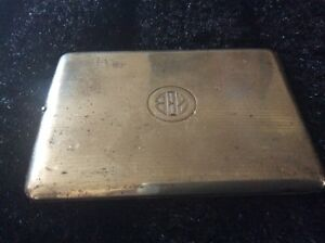 Sterling Silver Elgin Am Mfg Co Money I D Cigarette Case