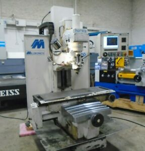 Milltronics Mb20 3 axis Cnc Vertical Bed Mill Milling Machine 5 Hp 40 Taper