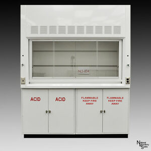 6ft Chemical Laboratory Fume Hood W Flammable Acid Storage Cabs Storage