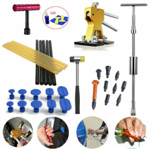 Car Repair Kit Puller Paintless Dent Remover Tools Slide Hammer Hail Tap Down