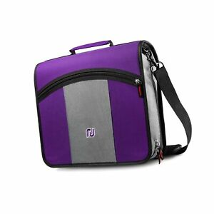 Nekmit 3 inch Zipper Binder 3 Rings Binder With Expanding File And Shoulder