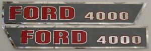 F503ha Ford New Holland Tractor 4000 Hood Decal Set D f4000a
