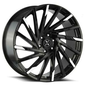 26 Inch 26x10 Xcess X02 Machined Tips Wheel Rim 5x120 25