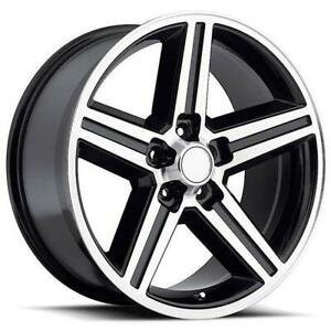 26 Inch 26x10 Replica Iroc Black Machined Wheel Rim 6x5 5 6x139 7 24