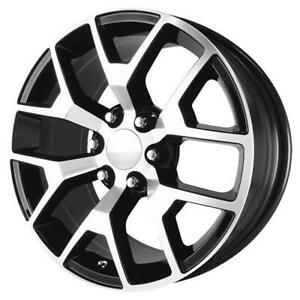 26 Inch 26x10 Replica Gmcsierra Black Machined Wheel Rim 6x5 5 6x139 7 31