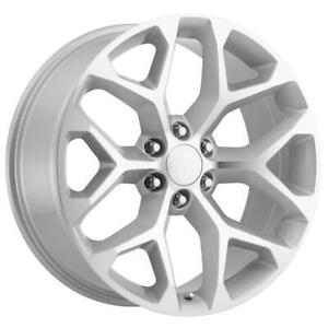 26 Inch 26x10 Replica Gm Silver Wheel Rim 6x5 5 6x139 7 31