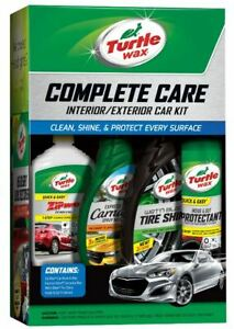 Turtle Car Care Kit Cleaning 4pc Set Shine Wash Wax Wheel Protectant Detailing